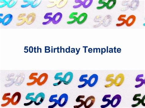 happy 50th birthday card template 9 best images of 50th birthday certificate printable