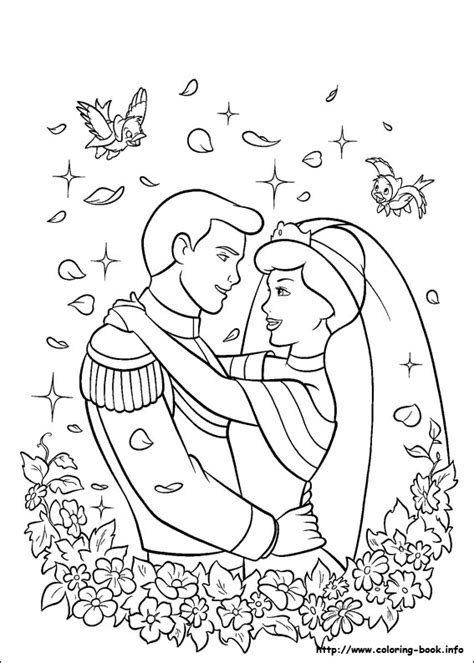 pages book info cinderella coloring picture