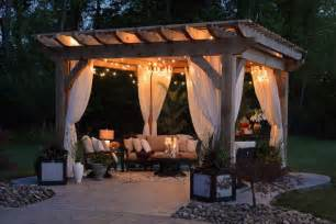 Patio Pergola Bar Set This Sophisticated Outdoor Room Is Furnished With A