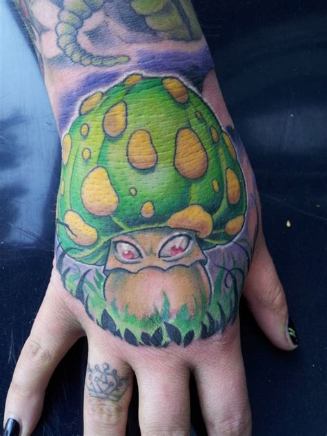 mushroom tattoo 15 groovy tattoos me now