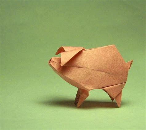 Origami Pig - origami paper pig origami