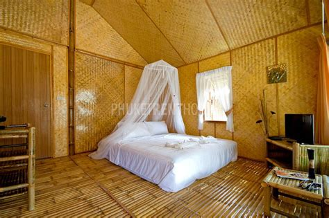 raw bamboo  bedroom bungalow  rawai phuket rent