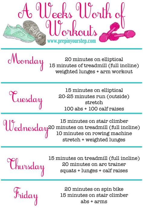 light weight workout routines best 25 weekly workout routines ideas on