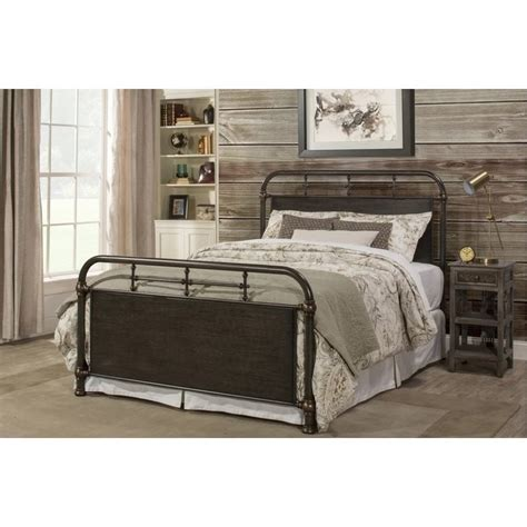 Rustic Metal Bed Frames westminster size metal bed frame in rustic brown