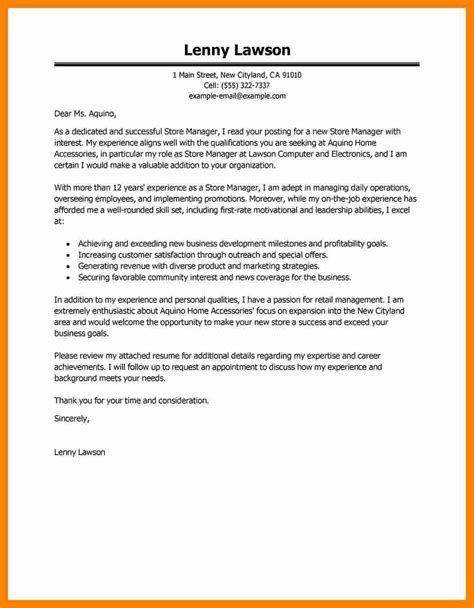 Cover Letter Management Position by 10 Cover Letter For Manager Position Letter Signature