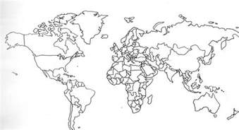 World Map Countries Labeled Outline by Happy S Day Satsumabug