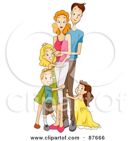 royalty free rf clipart of families illustrations