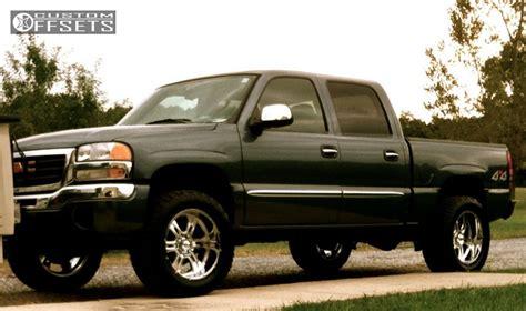 2006 gmc wheels wheel offset 2006 gmc 1500 aggressive 1 outside