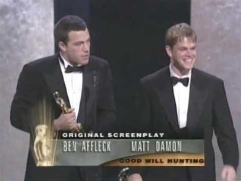 film oscar matt damon ben affleck and matt damon win original screenplay 1997