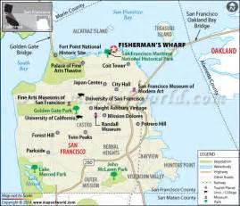 san francisco map fishermans wharf fisherman s wharf location map