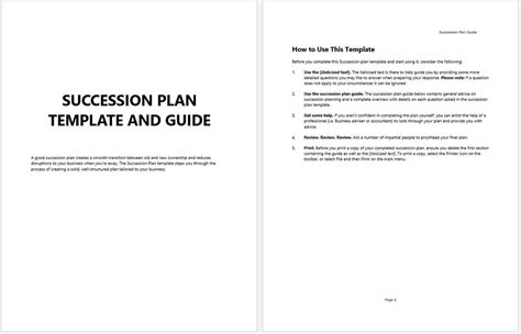 succession plan template in conclusion the changing