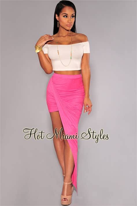 ruched draped skirt pink faux suede ruched assymetrical draped skirt