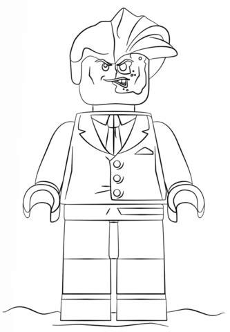 ninjago face coloring pages ausmalbild lego two face ausmalbilder kostenlos zum