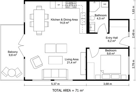 Black And White Floor Plans Roomsketcher