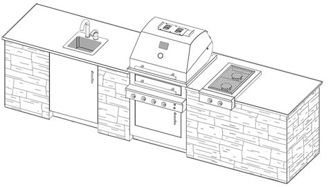 outdoor kitchen floor plans outdoor kitchen plans with cad pro