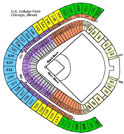 white sox stadium seating u s cellular field chicago il landry s tickets
