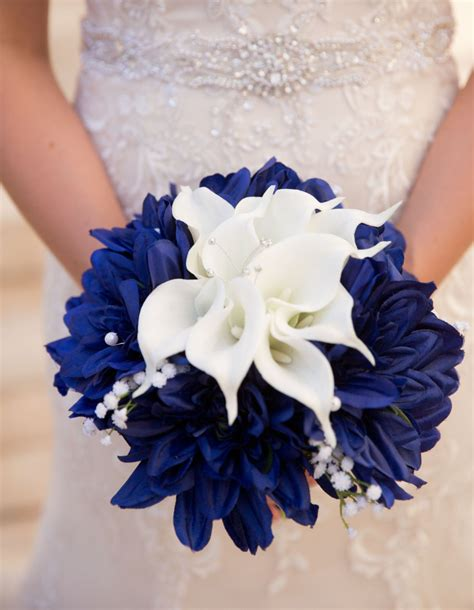Wedding Bouquet Navy Blue by Blue White Bouquet Nautical Bouquet Navy Blue Bouquet White