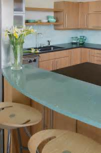 Glass Kitchen Countertops by Examples Of Eco Friendly Glass Countertops Furniture