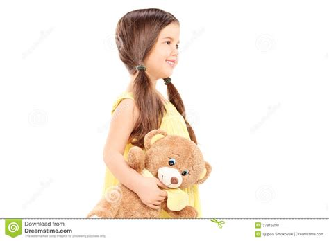 cute child cute child holding a teddy bear stock photo image 37915290