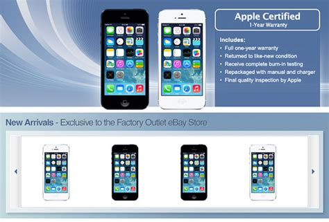 Iphone 5s Certified Pre Owned Apple S Second Secret Ebay Store Launches With Certified Refurbished Unlocked Gsm Iphone 5 Models