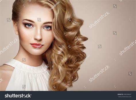 beautiful model with elegant hairstyle stock photo fashion portrait young beautiful woman jewelry stock photo