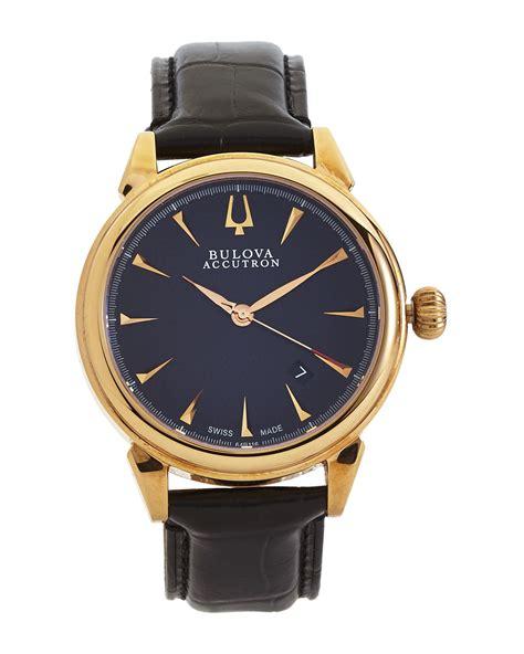 bulova gold tone black in black lyst