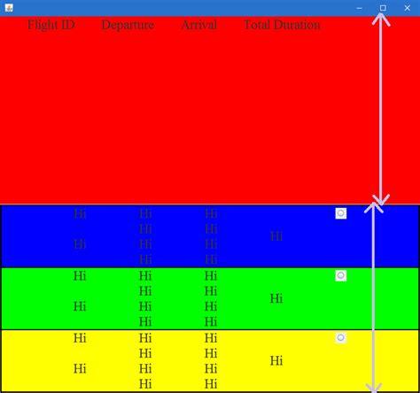gridlayout gap java why is the vertical gap of gridlayout keeping on