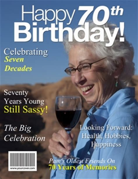 Custom Magazine Cover Templates by 70th Birthday Yourcover
