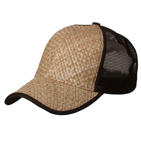 Straw Cap brown straw trucker cap trucker cap