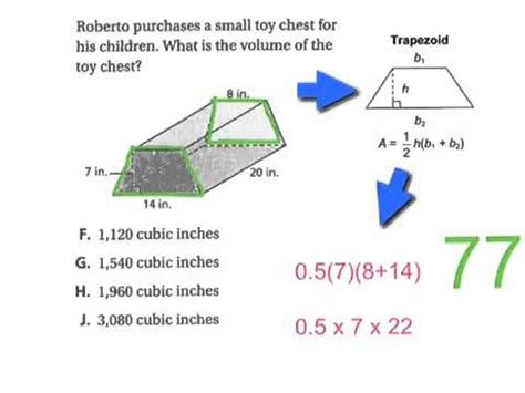 volume of trapezoidal section volume of a trapezoidal prism youtube