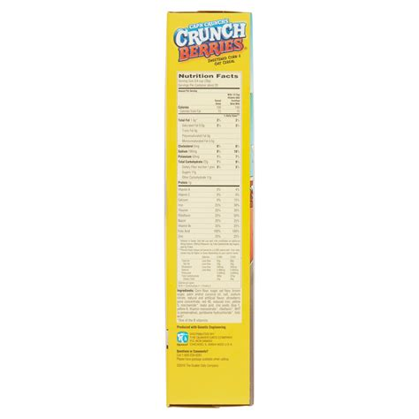 captain nutritional facts captain crunch cereal nutrition label nutrition daily