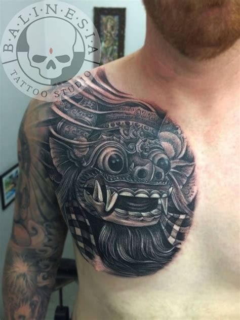 balinese tattoo designs collection of 25 bali mask on back