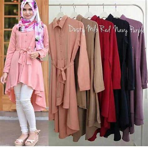 Baju Atasan Tunik Blouse Muslim Wanita Flowing Tunic 1 baju atasan tunik wanita jual baju atasan wanita tunik