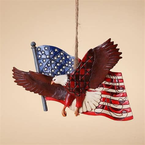 jim shore heartwood creek patriotic eagle with flag