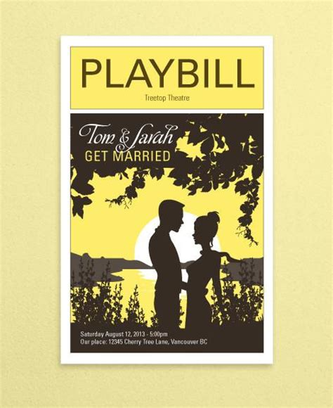 broadway playbill template pictures to pin on pinterest
