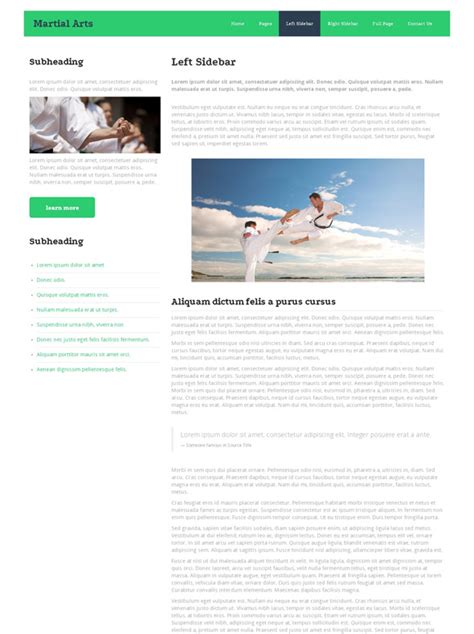 Karate Website Template Martial Arts Website Templates Dreamtemplate Karate Website Template