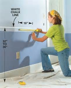 Standard Chair Rail Height - great information on different ideas and the standard procedure of installing chair rails