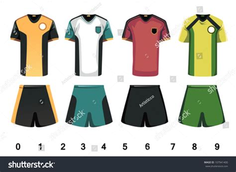 football jersey design vector vector illustration soccer jersey design stock vector