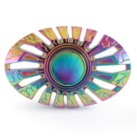 Fidget Spinner Rainbow Ufo Paket Promo Gex Ufo Butterfly Rainbow Titanium Spinner Gx031