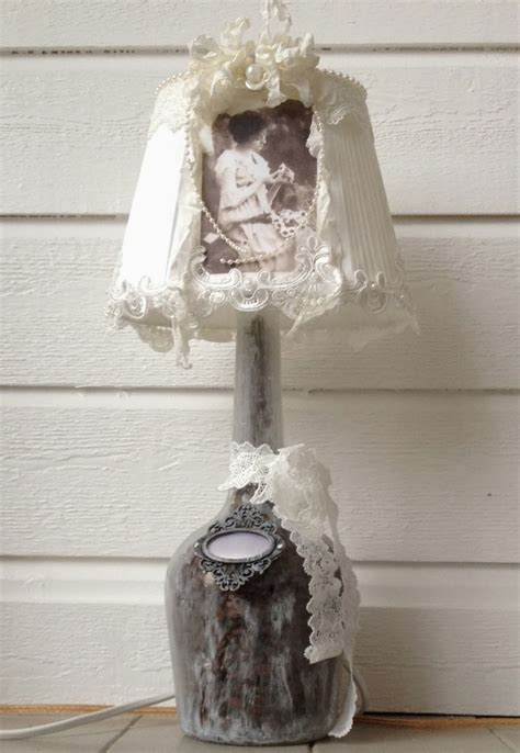 annes papercreations hand made shabby chic lamp 2