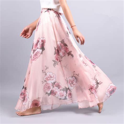 2017 summer new fashion vintage bohemia chiffon floral