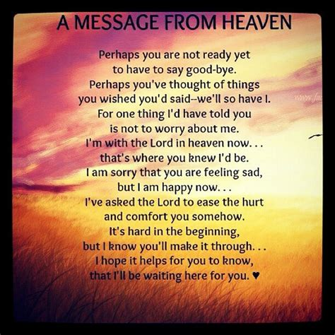 A Message From by A Message From Heaven Remembering The