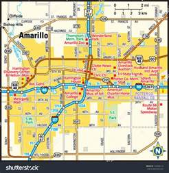 amarillo map of amarillo area map stock vector 143948113