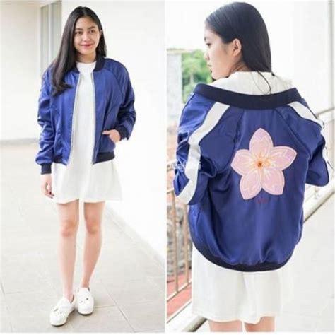Jaket Outer Bomber Jacket Wanita Unik Model Terbaru Terkini Remaja jaket cewek bomber jacket model terbaru harga murah bandung dijual tribun jualbeli