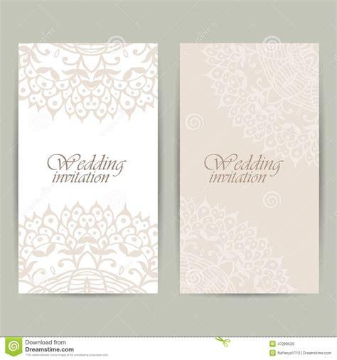 wedding invitation ornaments vector vertical wedding invitation card with lace ornament vector background stock illustration