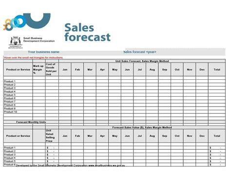 39 Sales Forecast Templates Spreadsheets Template Archive Sales Forecast Excel Template