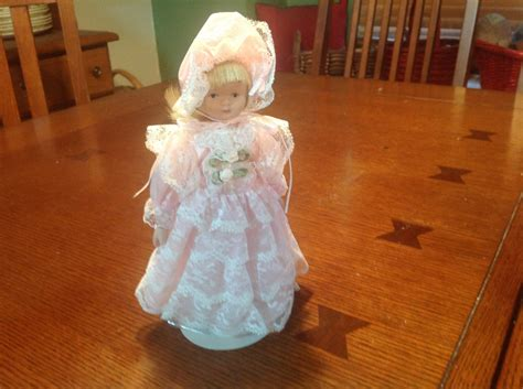 porcelain doll on stand kaiser chicago porcelain doll on stand in pink dress and
