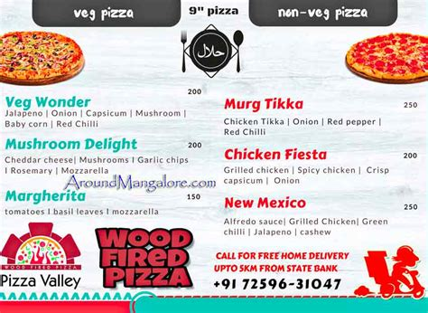 pizza valley home delivery around mangalore info