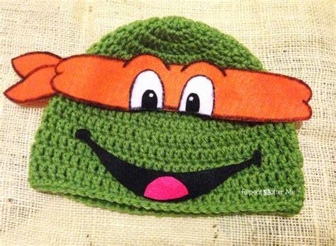 pattern for ninja turtle beanie repeat crafter me crochet ninja turtle hat pattern