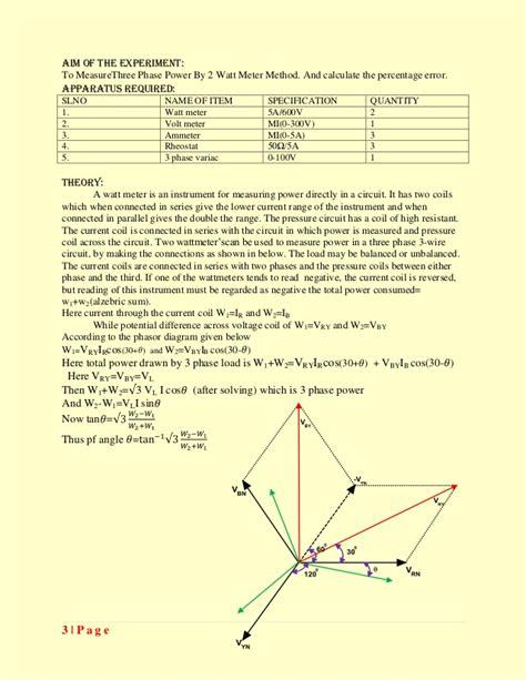 electrical wiring calculation pdf